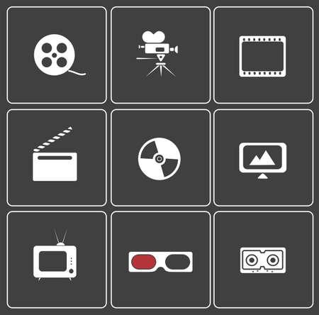 icon web on cinema Stock Vector - 20775115