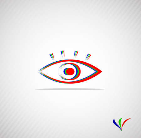 eyelids: abstract eye for your design with a place for the text