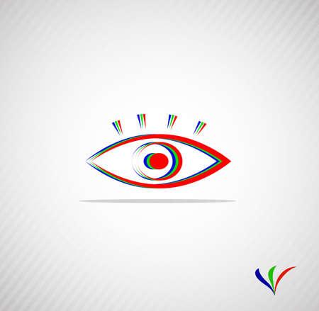 Zusammenfassung Auge für Ihr Design mit einem Platz für den Text