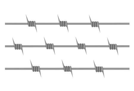 barb wire isolated: element of barbed wire on a white background