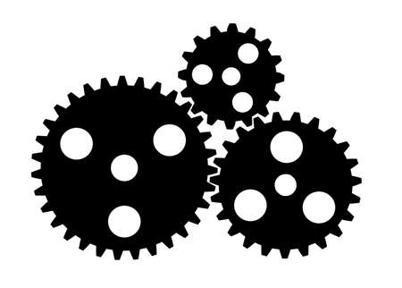 gears on a white background Illustration