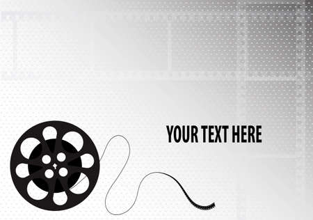 prospect: bobbin film on a gray background with a place for the text