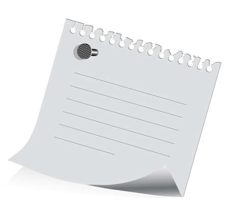 sheet of paper on on a white background with a place for your text Stock Vector - 21219977