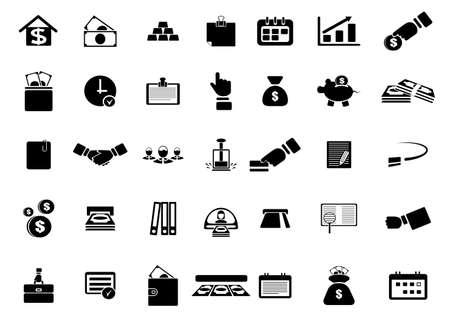 ingots: icon web on a subject business finance economy Illustration
