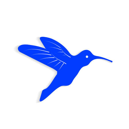 colibri on a white background Stock Vector - 21550798