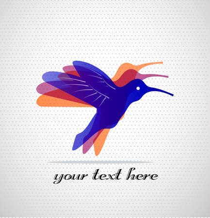 colibri on a seamless background with a place for your text Stock Vector - 21550799