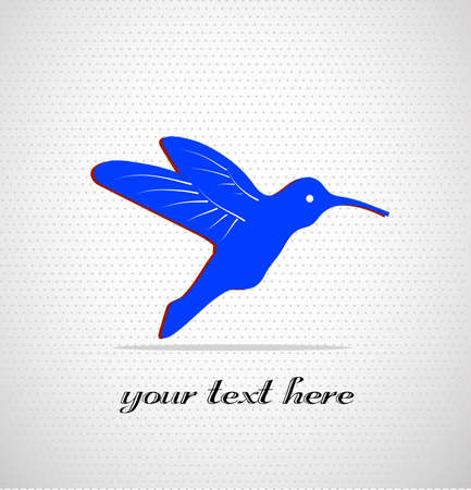 colibri on a seamless background with a place for your text Stock Vector - 21550800