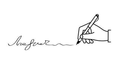 imposing: aggiunge a mano la firma su uno sfondo bianco