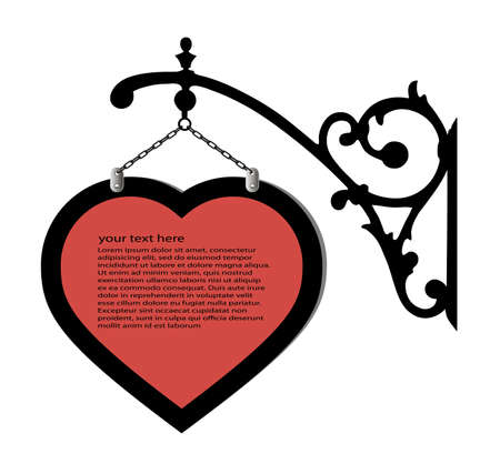 smithery: old sign advertising in the form of heart