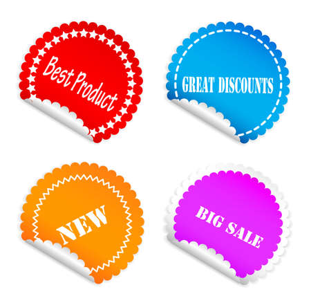 Set of color labels