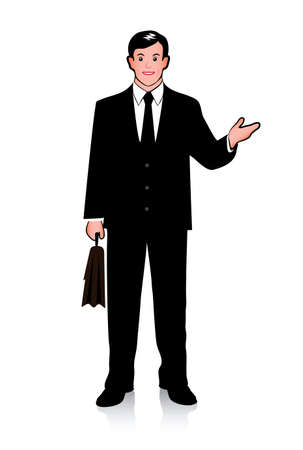 outstretched: picture of businessman with outstretched hand