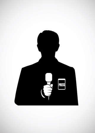 news reporter: silhouette reporter