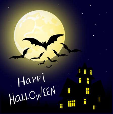 animated film: mystical fairytale background for Halloween