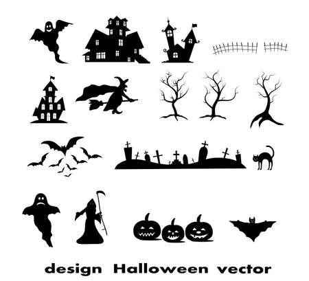 Halloween design elements Vector