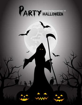 mystical fairytale background for Halloween Vector