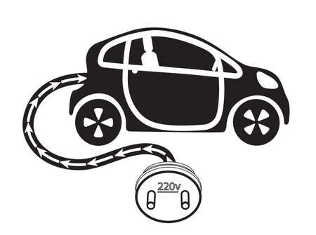 electric motor cars Vector