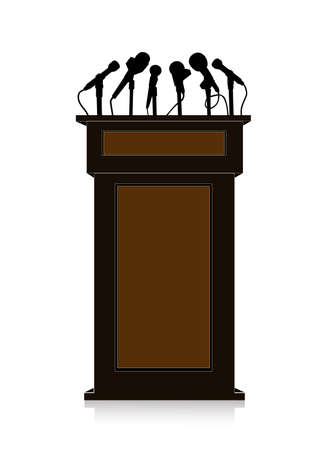 debate: tribune on a white background