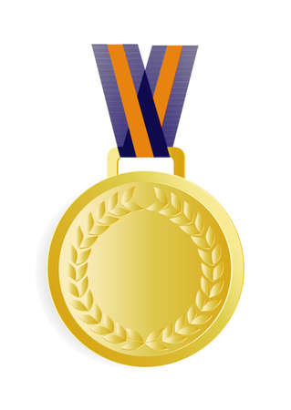 gold medal on a white background Stock Vector - 22268726