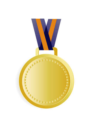 gold medal on a white background Stock Vector - 22268797