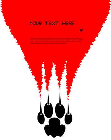 tearing claws predator with space for your text Vector