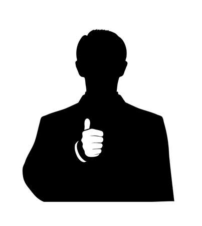 man showing a thumbs up sign on a white background Vector