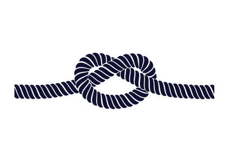 rope knot on a white background Vector