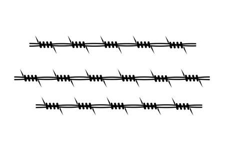 element of barbed wire on a white background Vector