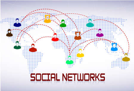 scheme of social networks Stock Vector - 22441048