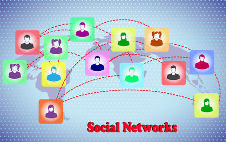 scheme of social networks Stock Vector - 22441075