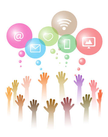 hands symbolize social networks Stock Vector - 22720757