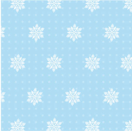 Christmas seamless background from snowflakes Vector