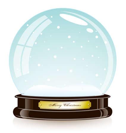 christmas snow globe: Christmas toy snow globe Illustration