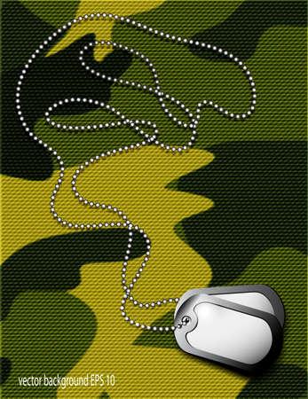 Soldat s Token für Tarnungsstoff