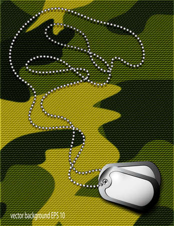token: soldier s token for camouflage fabrics Illustration