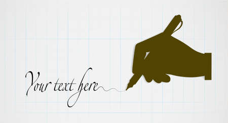 authoritative: silhouette of hands on leaf background with space for your text Illustration