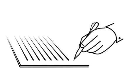 imposing: Icona di scrittura a mano su carta