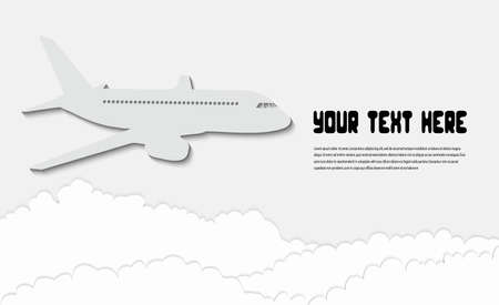 aviations: airliner in the sky Illustration