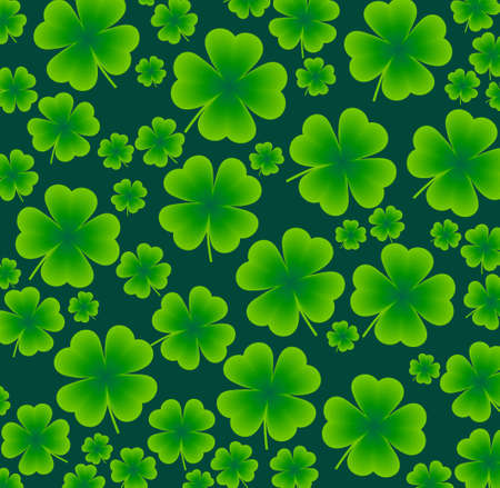 seamless background of clover to the day St  Patrick s Day Çizim