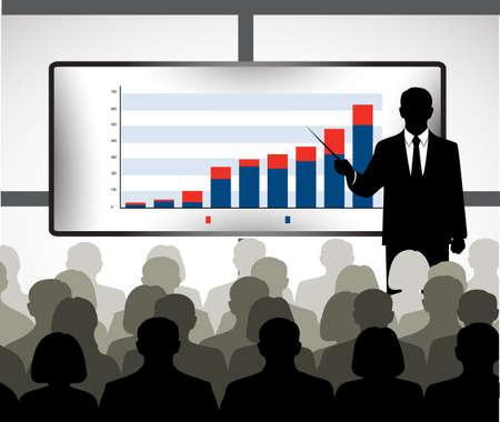 Silhouette der Geschäftsmann mit Ausbildung