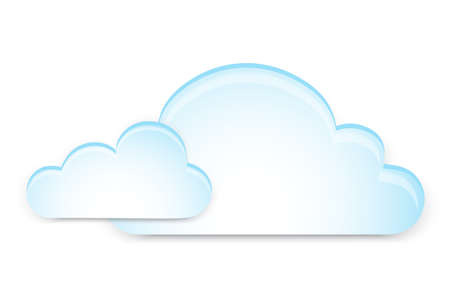 white clouds: blue clouds on a white background Illustration