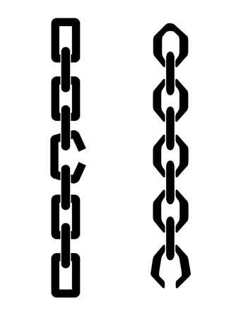 cadena rota: cadena con un enlace roto