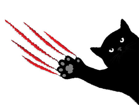 cat s claws breaking off a background Vector
