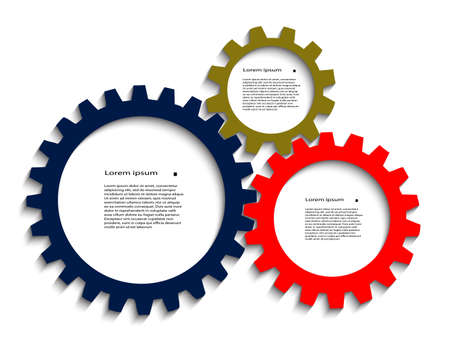 color pinion gears with a place for your text Illustration