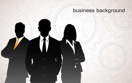 businessman on an abstract background from gears Stock Vector - 24755032
