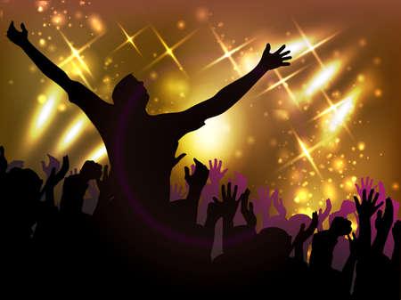 night club: Por la noche en el fondo discoteca vector