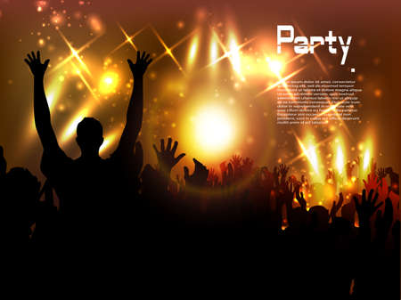 Evening in night club  vector background Vector