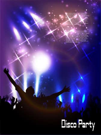 night club: Evening in night club  vector background