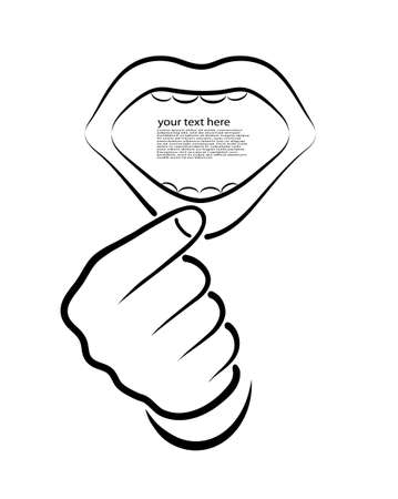 mouth open: open mouth on a white background Illustration