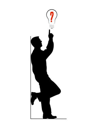 business ideas man with outstretched finger Vector