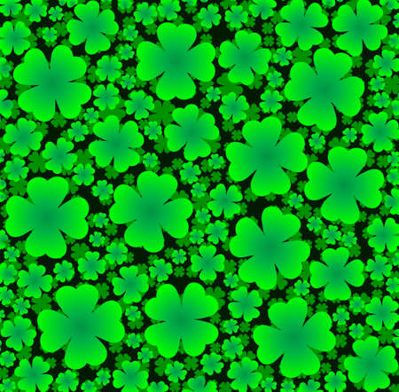 seamless background of clover to the day St  Patrick s Day Vector